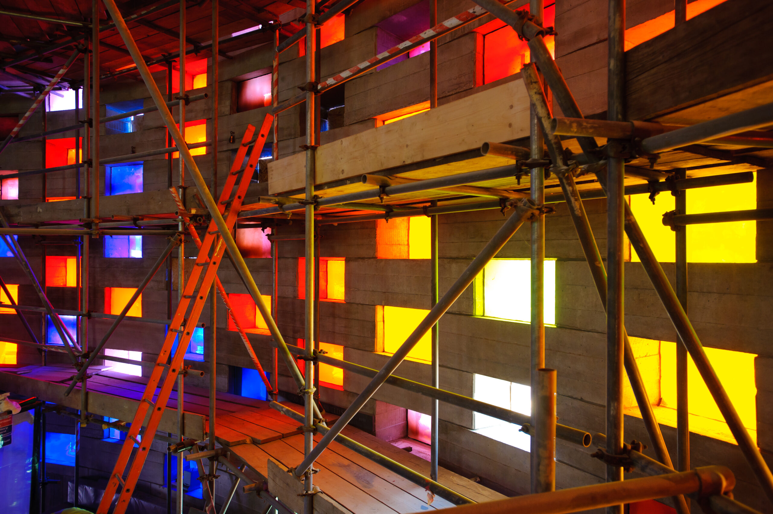 scaffolding at the meeting house
